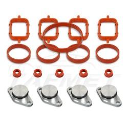 Zestaw 4 sztuk 22 mm aluminiowych zaślepek kolektora ssącego BMW z kompletem uszczelek