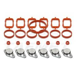 Zestaw 6 sztuk 22 mm aluminiowych zaślepek kolektora ssącego BMW z kompletem uszczelek