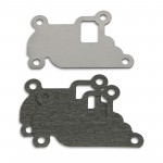 EGR valve blanking plate with gaskets for Opel 1.0 12V, 1.2 1.4 16V petrol engines