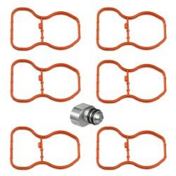 Swirl flap plug with manifold gaskets for BMW 2.5 3.0 3.5 4.0 Diesel N57 engines