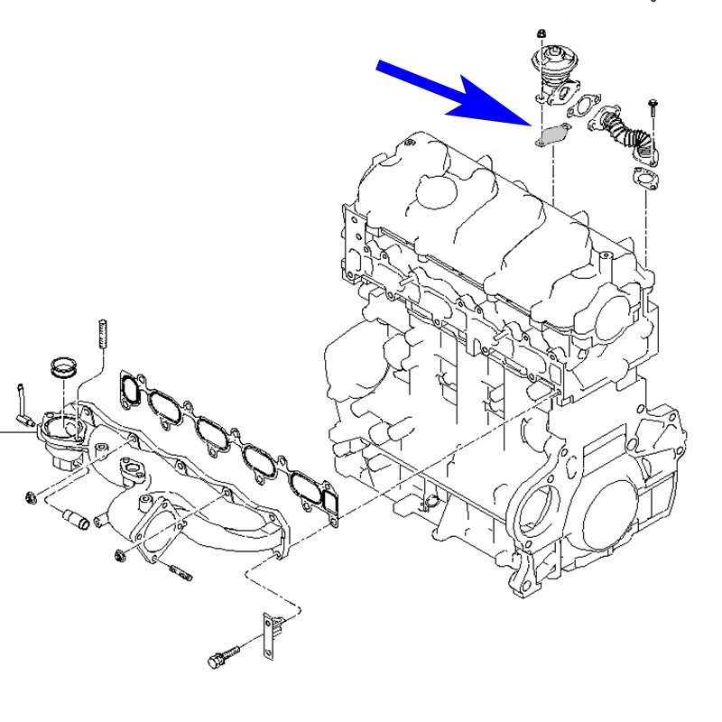 Egr Valve Blanking Plate With Gaskets For Kia Hyundai With Crdi Engines