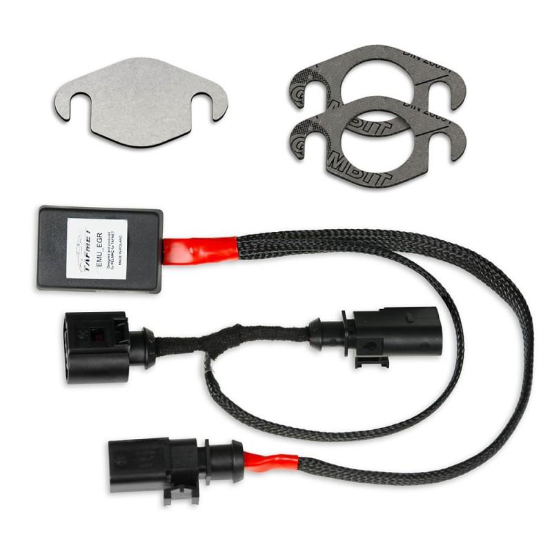 AGR Ventil Simulator mit Verschlussplatte und Dichtungen für VW Audi Skoda Seat 1.6 TDI CR Motoren