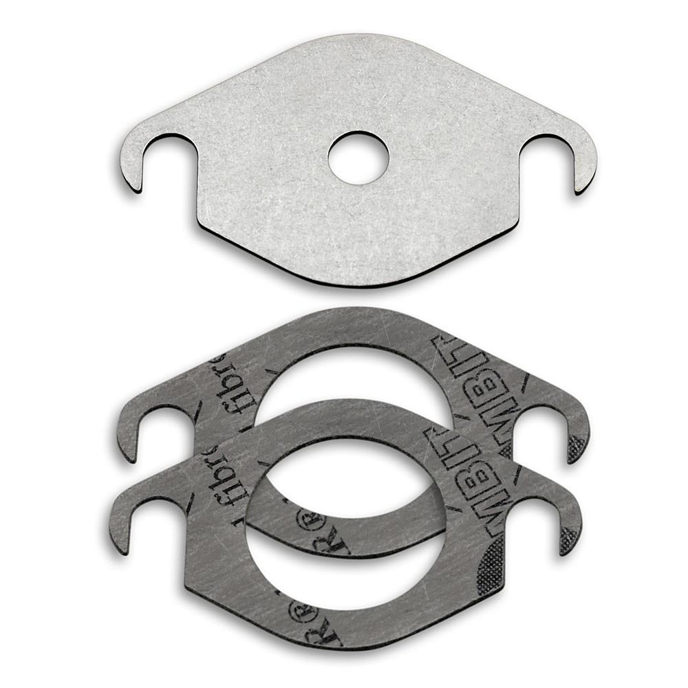AGR-Ventilplatte Edelstahl-AGR-Ventil-Blindplatte mit 2 Dichtungen zum direkten Ersetzen der alten Ventil-Blindplatten-Kit geeignet f/ür SEAT GALAXY TDI
