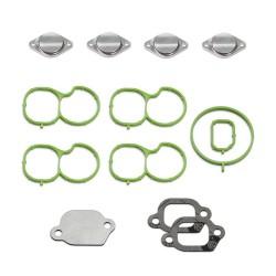 Drallklappen Entfernung Set mit Dichtungen + AGR Verschlussplatte für Opel Chevrolet 2.0 CDTI Saab 1.9 2.0 TTiD Motoren